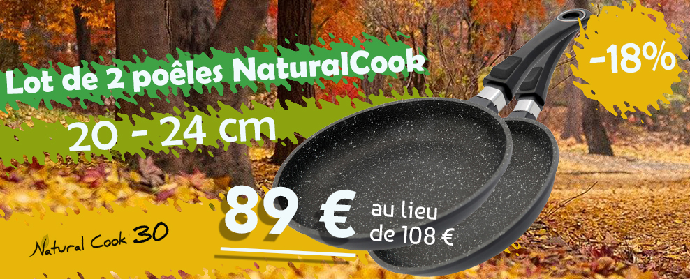 Promotion lot poêles Natural Cook
