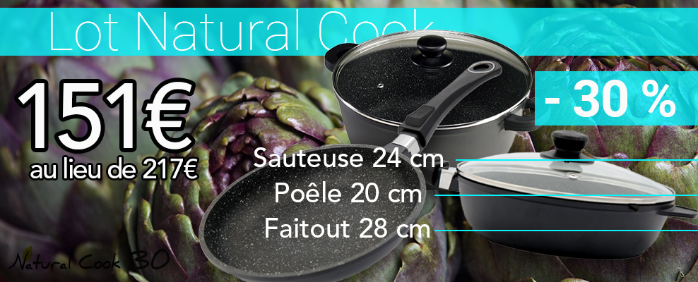 Poele et casserole pierre Natural Cook promo
