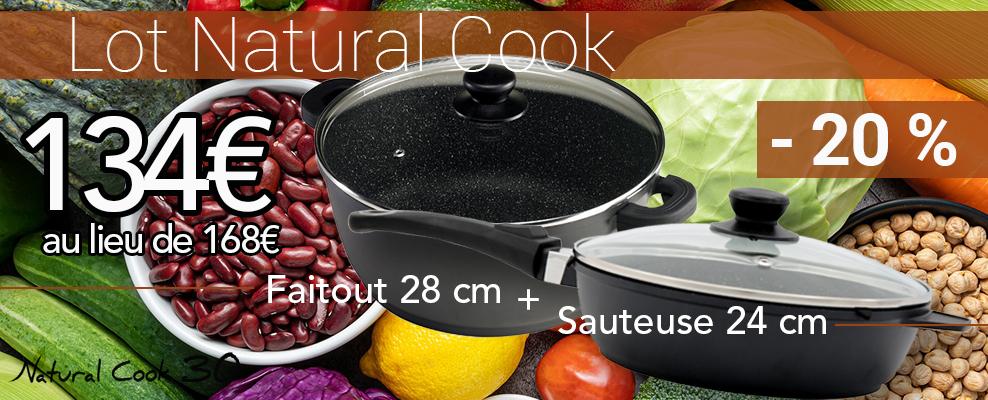 Faitout et  Sauteuse pierre Natural Cook promo
