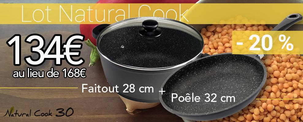 Promotion faitout et poele en pierre Natural Cook