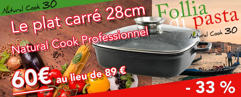 Promotions plat carré Natural Cook