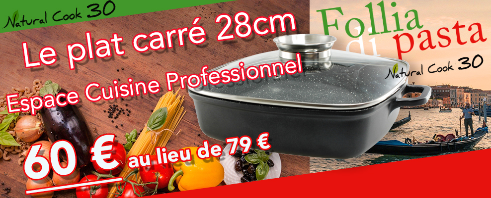 Promotion plat carré Natural Cook